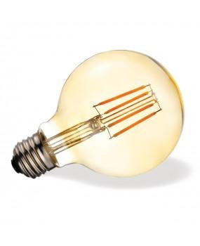 ΛΑΜΠΑ LED FILAMENT Φ95 7W E27 2200K ΜΕΛΙ