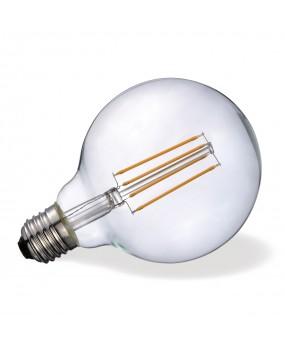 ΛΑΜΠΑ LED FILAMENT Φ95 7W E27 2700K ΔΙΑΦΑΝΗ