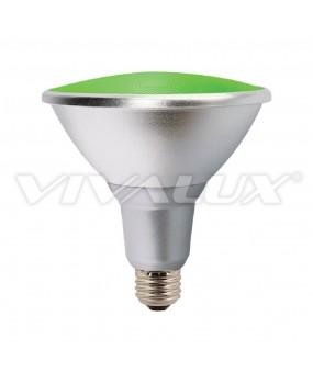 ΛΑΜΠΑ LED PAR38 15W Ε27 230V GREEN E27 IP65