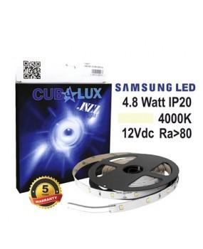 ΤΑΙΝΙΑ LED 12V 4.8W IP20 4000K 719