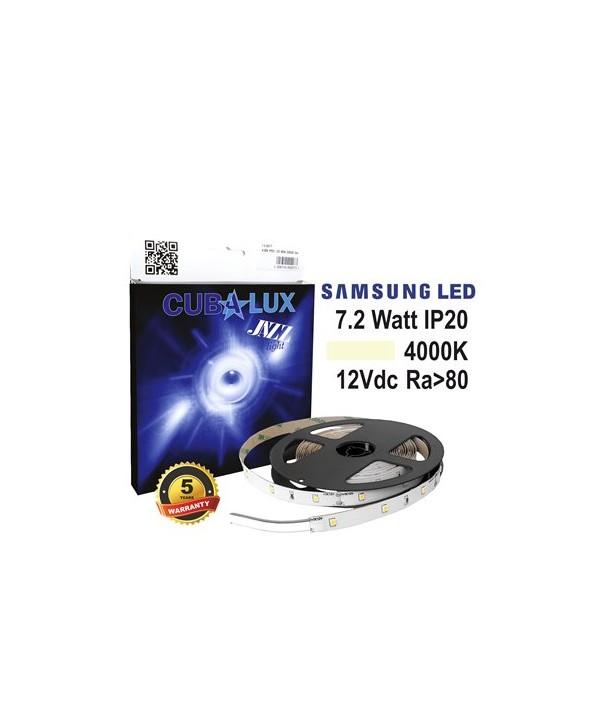 ΤΑΙΝΙΑ LED 12V 7.2W IP20 4000K 0617